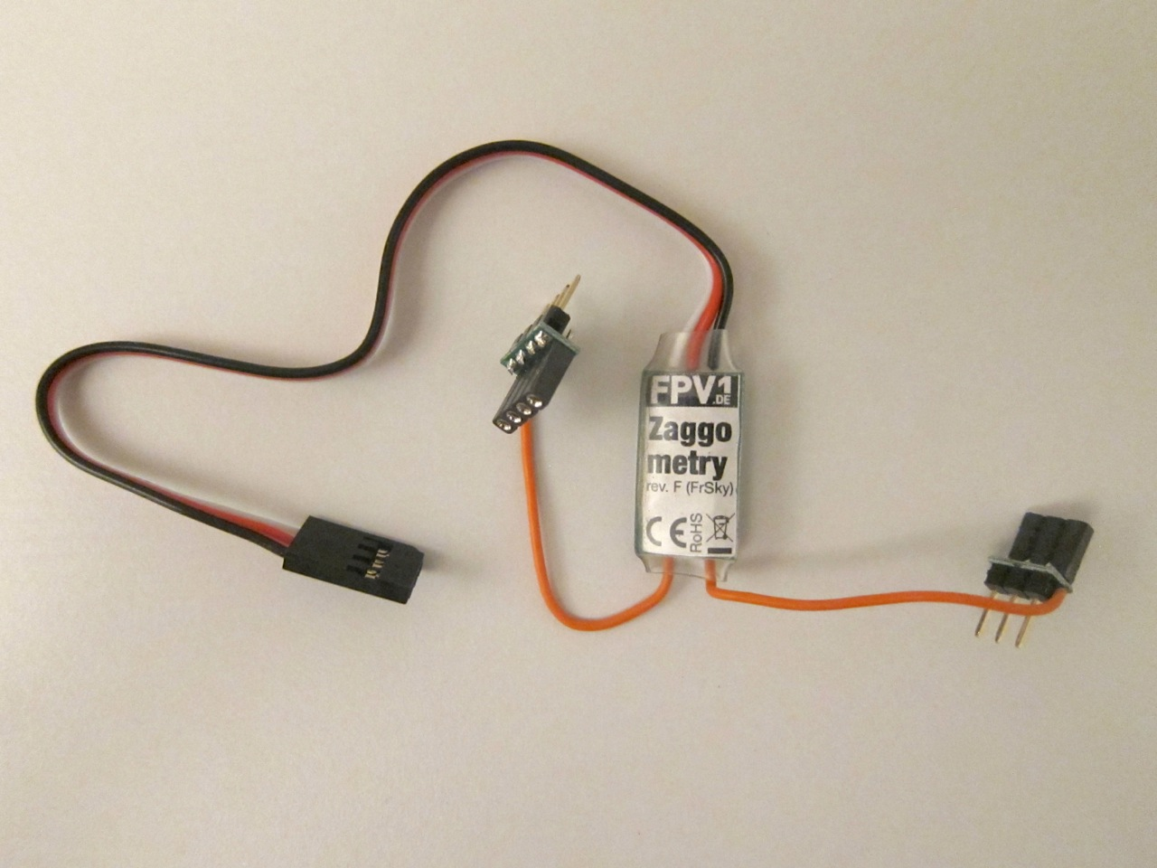 Zaggometry telemetry adapter: capable of reading the NAZA GPS and onboard voltage.