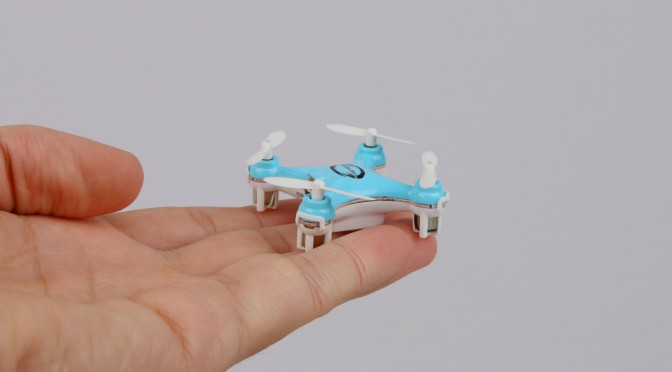 Tiny little quadcopter, Blaxter X40 is smaller than the palm of a hand.