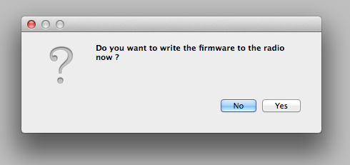 openTX Companion dialogue asking you, if you want to upgrade the firmware. Hint: select 'Yes' ;)