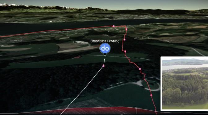 Drone flight visualization from Taranis log
